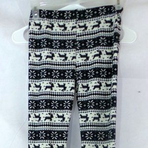 Other - Deer Print Sweater Leggings Thermals Size L/XL
